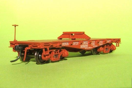 Und zum Dritten ein Modell für das Beladungprojekt - aber dieser flatcar der PRR ist nun in jeder Beziehung korrekt!
