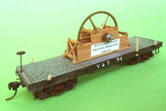 Ein fast noch älterer flatcar der Virginia & Truckee - das große Zahnrad macht ihn so richtig interessant.