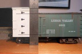 Und noch einmal der Vergleich der Wagenhöhe - Ganz schön gewaltig, Egon!