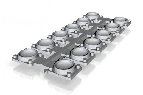 Pole pckets - Pfannen für das Rangieren/Verschieben der Wagen - im 3D-Druckverfahren hergestellt.