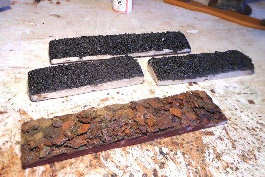 Kohle und Schrott, der allerdings zu 100% Rost ist.