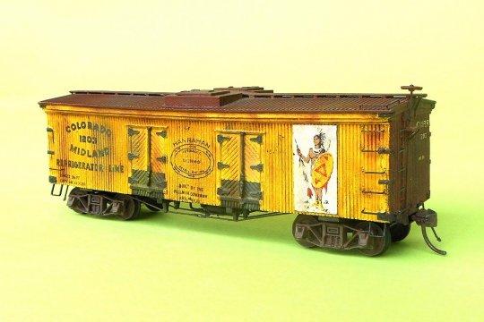 Dazu nun das Modell dieses Reefers - ein schöner Holz-Bausatz der Fa. LaBelle Wood working. Der Indianer im Logo macht dieses Modell für mich so einmalig!