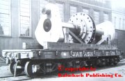 The prototype of a heavy load platform car (flatcar) of the Wabash RR. with a mighty shaft - on a picture of 1901.