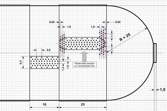 Vorbereitungen für den Bau meines Behälters, möglichst genau nach dem Vorbild gezeichnet. Wird die Umsetzung zum Modell nun ebenso gelingen?