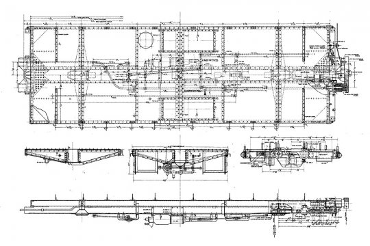 Noch die Variante vom Zeitpunkt des Baus dieser Cabooses mit einer K-Bremse, ebenso auf den Kopf gestellt. Und genau diese gehört an mein Modell! Courtesy of Norfolk & Western Historical Society