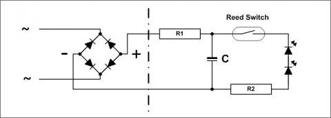 Zur Beleuchtung die kleine Schaltskizze, im Prinzip eine simple Angelegenheit und je nach Bedingung auch modifizierbar.