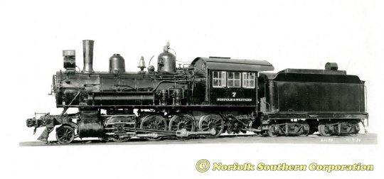 Noch ein schönes Bild der Norfolk & Western G1 no. 7, wofür ich die Erlaubnis zur Nutzung bekam - courtesy Norfolk Southern Corporation.