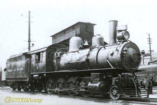 Nun doch noch von der N&W Historical Society erhalten - ein Bild der G1 no.6 von 1948. Und da war sie sogar noch weitere fünf Jahre im Einsatz. (NWHS collection)