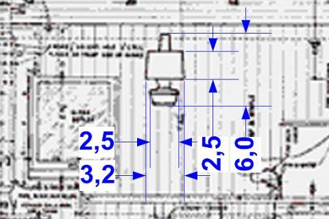 Für die Beleuchtung des zweiten Cabooses fand sich auch eine Skizze, wie diese Petroleum-Lampen für den Innenraun tatsächlich ausgesehen haben.