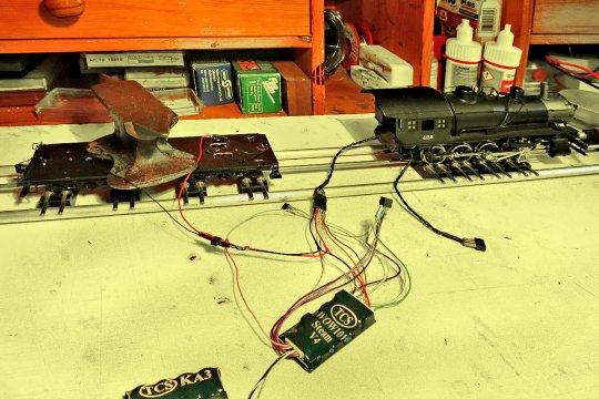 Nochmals eine schrittweise Inbetriebnahme, erst der Motor - noch geht alles.
