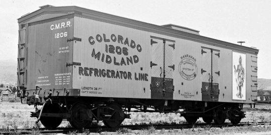 Seit dem ich mich nun so ein bisschen bei Facebook austausche, finde ich immer wieder Bilder, wo ich einen besonderen Bezug dazu habe - wie dieser Reefer der Colorado Midland RR.