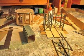 Das Ständerwerk nimmt Stück für Stück Gestalt an und sieht hier ganz einfach aus.