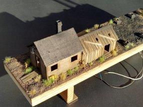 Dank meines Freundes Sven Jakob nimmt auch der Grund um den Kohleturm Gestalt an. Sieht doch schon richtig gut aus?