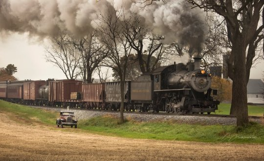 Norfolk and Western class M #382 on tracks of Strasburg Rail Road. Photo and copyright Dan Drennen.