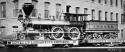 This is ones of the pictures which has given me the idea for modeling! Please loot rhe transport of this wide gauge engine on two cars! Absolutely that what I would like to built! Picture in public domain.