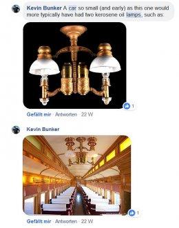Und dann ein Diskussionsbeitrag auf Facebook, wo ich meine Suchanfrage auch eingestellt hatte - Nachbauten historischer Lampen für rekonstruierte Personenwagen. Damit war die Entscheidung endgültig gefallen!