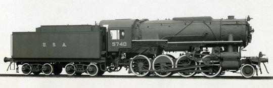 United States Army Transportation Corps (USATC) Lokomotive class S160 - eine Lok aus den USA, nahezu weltweit im Einsatz, um den Mangel an Transportkapazitäten nach dem 2. Weltkrieg zu beheben.
