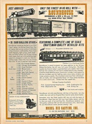 Die Anounce im Model Railroad Craftsman, bei einer Diskussion auf Facebook ins Spiel gebracht, die zeigte mir die Möglichkeit auf, meine Modelle der Pullman Palace cars endlich in Angriff zu nehmen!