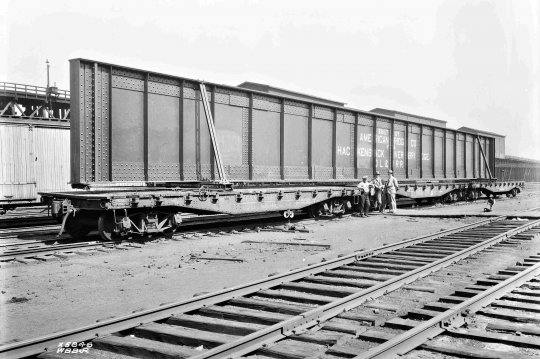 Nochmals solch ein Brückenträger, so etwa 45 Meter lang! Copyright William B. Barry, Jr. - Lackawanna Railroad photo, Steamtown National Historic Site collection