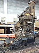 Wood strips and shingles - an intensively built old time coal tower from not many more then wood! Now a part of a steam loco museum on a large modular layout.