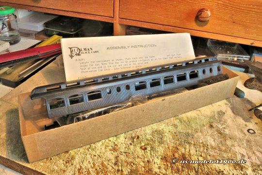 Was könnte sich denn für solch einen Zug noch besser anbieten als dieser Pullman Observation car? Seit langer Zeit im Schrank liegen, müsste er nur noch gebaut werden!