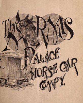 Das Titelbild des Katalogs der ''Arms Palace Horse Car Co.