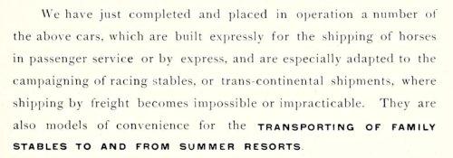 Ein Ausschnitt aus der Beschreibung des Katalogs, der auf die vorzügliche Verwendung dieses Wagens hinweist, natürlich nicht nur Ponys!