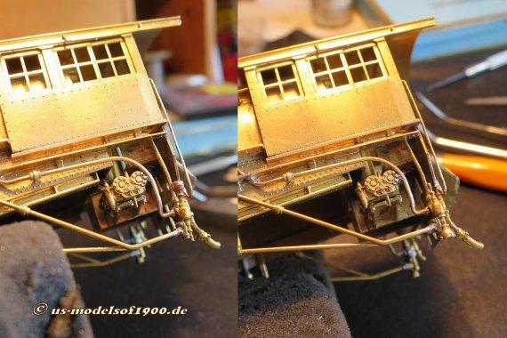 Eine Reparatur war nötig - und was entdeckt man dabei, der Injektor war doch auch einer Seite kopfüber zusammengebaut! Links, wie es war und rechts, so wie es sein sollte!