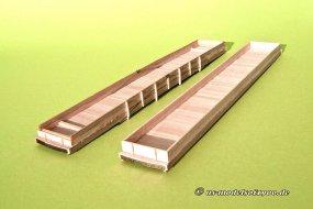 Noch so ziemlich das Einfachste, der Bau der Wagenkörper aus Holz.