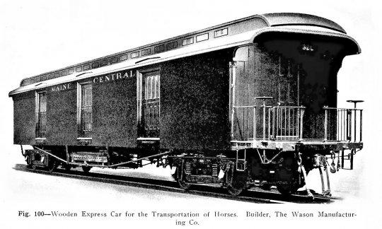 Ein weiteres Beispiel eines solchen Pferdetransportwagens, hier von der Maine Central Railroad - und dieses sollte bei weitem nicht das Einzige sein!
