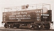 A tank car, a bit different from the usual! High-board walkways and a wooden planking for the self-advertisement! That's really something for me!