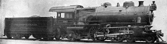 Das Vorbild, Pennsylvania RR class E-6s Atlantic, gebaut in den eigenen Werstätten der PRR (Juniata Locomotive Shop of Altoone Works) ab 1914 und nach Aussage eines Freundes auf Facebook ist no. 1067 eine der frühen Loks.