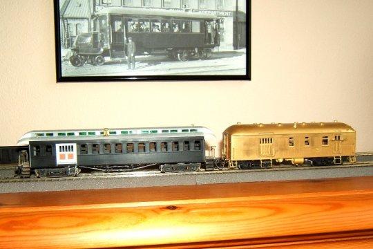 Mit diesem 'goldenen' Modell eines RPO soll es zu einem vollständigem Zug der V&T weitergehen, zu dem dann auch nur noch ein einziger Wagen fehlt. Die richtige Lok steht allerdings auch noch auf der Wunschliste.