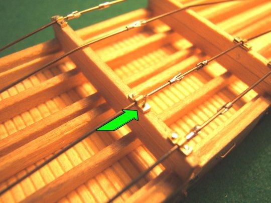 ... die auch hier ''angenagelt'' werden und so die truss rods in Position halten.