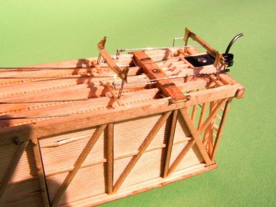 Die Bremse im montierten Zustand, allerdings war um 1867 noch sehr oft nur ein Drehgestell damit ausgerüstet.