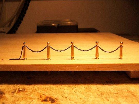 Ein Versuch lohnt, um mit gleichmäßigem Pfostenabstand die Kettenlänge zu bestimmen.