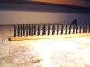 So sieht's dann vor der Aufstellung auf den Modulen aus. Wie lang war das wohl? Fast zwei Meter?
