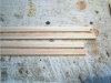 Vorbereitung der Bordwände - jeweils zwei Planken werden miteinander verklebt.