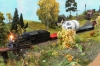 The engine on a first model train meeting with ''my'' Xtra-train - however, this looks very much after a branch line.
