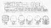 Bevor es an die Arbeit geht noch eine richtige technische Dokumentation, diese Lokomotive als Zeichnung mit vielen Details und Abmessungen<br>Quelle: Simmons-Boardman Publishing Co. Locomotive Cyclopedia, seventh edition 1922 – nutzbar als Public Domain