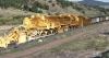 Noch eine kleine Spielerei mit Bildern - ein Kohlezug mit 100 Wagen mit jeweils 100 Tonnen Ladung war das Normalste der Welt für diese Lok.