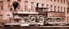 Das ist eines der Bilder vom Vorbild, das mich so inspiriert hat! Lok und Tender jeweils auf einem eigenen Wagen! Aber genau das kann ich nicht realisieren, das Bild ist von ca. 1873/74 und Lovell existierte um 1900 schon nicht mehr! - Bild unter Public domain.