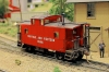 Unfortunately there was not a chance the caboose let to run together with a train on this annual meeting of FREMO in Riesa, Germany. All trains did run after a fixed schedule and these were more modern model trains.