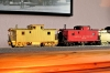 There is also the older brother in my stock now, a caboose of class CF; a little bit after 1900 originated and with wood sheating, of course. And there I will do probably pretty much the same changes like at first model - interior decoration, lighting, train end lanterns, painting! Fortunately, I must not do many changes on underside of model!