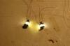 Versuche mit einer einfachen Innenbeleuchtung - Petroleumlampen. Was sonst, wenn der Wagen weder einen Gastank an Bord hat noch Batterien für elektrisches Licht?