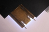 So sieht's dann auf dem ''Lichttisch'' aus, ein LED-Panel. Zur besseren Sichtbarkeit ist ein Blatt Papier zwischengelegt, das die Lichtstärke etwas dämpft.