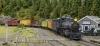 Einmal ein Bild, für das ich den Zug zusammengestellt habe; den Canda flat car mit Robs steam roller wollte ich unbedingt im Bild haben!