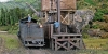 A lot of handworking is needed at the coaling bin beside of this small loco shed!