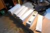 Vorbereitungen für die Dächer - ein paar Plastikstreifen aufgeklebt und zugeschliffen.