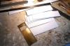 Die Verkleidungen für die Seitenwände sind in Arbeit - zunächst eine Lehre, um die Türen zu markieren.